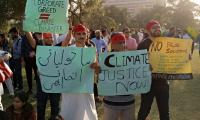 'Hoard out of greed but die of need':  Karachiites join worldwide climate strike
