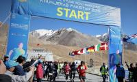 Pakistani athletes stun in Khunjarab's Highest Altitude Road Marathon