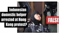 Fact-check: Indonesian domestic helper arrested at Hong Kong protest?