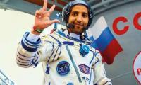Emirati spaceman returns home