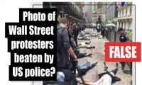 Fact-check: Photo of Wall Street protesters beaten by US police?
