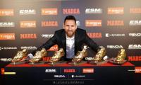 Barca captain Messi wins third consecutive golden shoe as top goal scorer