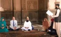 WATCH: Kate Middleton, Prince William listen to recital of Holy Quran in Badshahi Mosque