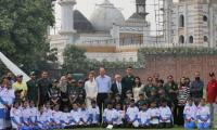 The Royal couple visit the National Cricket Academy