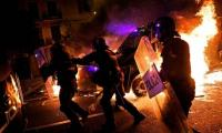 Violence escalates in Barcelona after 500,000 separatists rally