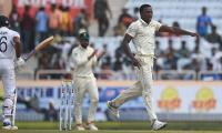 Rabada's double salvo wobbles India at start of third Test