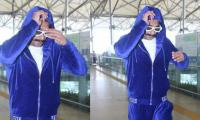 Ranveer Singh makes another bold fashion statement with blue, velvet track suit