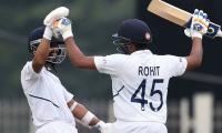 Sharma, Rahane help India hit back after early wobble