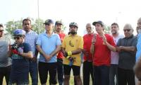 Cyclists in Karachi participate in polio awareness program