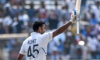 Rohit Sharma hits double century as India set 497-9
