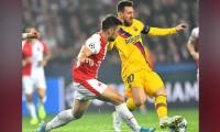 Messi´s historic goal helps Barcelona edge Slavia Prague
