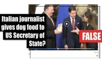 Fact-check: Italian journalist gives dog food to US Secretary of State?