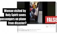 Fact-check: Woman visited by Holy Spirit saves passengers on plane from disaster?