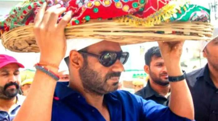 Video: Ajay Devgn reacts angrily as actor, son Yug get mobbed by fans at Ajmer Sharif