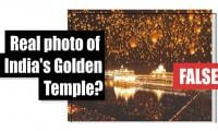 Fact-check: Real photo of India's Golden Temple?