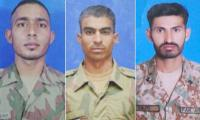 Three Pakistan Army soldiers embrace martyrdom in N. Waziristan