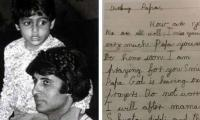 Abhishek Bachchan's letter to Amitabh Bachchan from childhood wins the internet