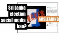 Fact-check: Sri Lanka election social media ban?