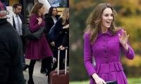 Kate Middleton shocks passengers as she takes the local train for a royal engagement