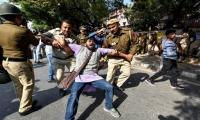 Indian police battle baton charge students over fee protests