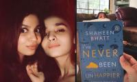 Alia Bhatt turns cheerleader for sister Shaheen Bhatt giving sneak peek of her book