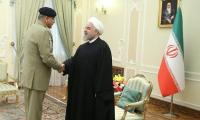 Pakistan Army chief meets Iran's Hassan Rouhani