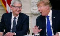 Trump-Cook 'bromance' culminates with visit to Apple factory