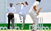 Pak vs Aus: Watch Naseem Shah's fiery first over in Test cricket