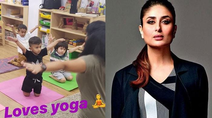 Taimur Ali Khan enjoying yoga session at playschool has the internet gushing