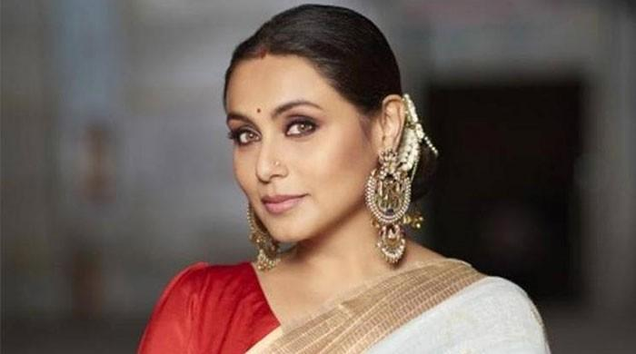 Rani Mukerji debuting as a news anchor as a promotional campaign