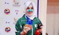 Kulsoom Hazara bags a silver and gold at SAG despite carrying an injury
