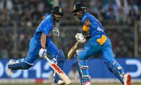 Rahul, Sharma, Kohli help India reach 240-3 in third T20I