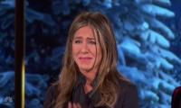 Jennifer Aniston bursts into tears after a needy family begs for help: WATCH
