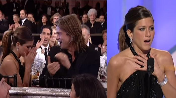 Flashback Friday: When Jennifer Aniston took home the Golden Globes award and Brad Pitt cheered her on - The News International
