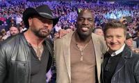 Marvel's Jeremy Renner, Bautista, Matthew McConaughey papped at UFC 246