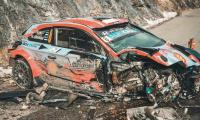 Ott Tanak escapes unhurt after his vehicle meets massive road crash