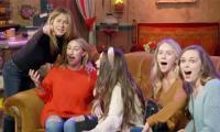 Jennifer Aniston scares fans as she hides behind Central Perk couch: WATCH