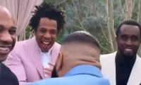 Jay Z, Diddy celebrate birth of DJ Khaled's son at Roc Nation's pre-Grammy brunch