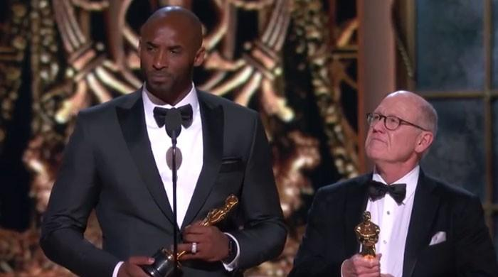 NBA legend Kobe Bryant's Oscars winning moment