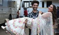 Video: Sara Ali Khan proud of Kartik Aaryan for this stunt