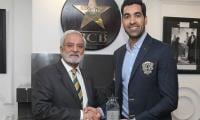PCB presents Umar Gul with plaque for services to Pakistan cricket
