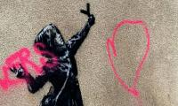 Banksy's new Valentine's Day work defaced