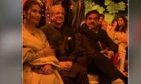 Shatrughan Sinha appears at a wedding event in Lahore along with Reema