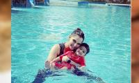 Sania Mirza shares candid picture with 'water baby' Izhaan from a Dubai pool