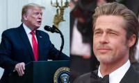 Trump reacts to Brad Pitt's Oscar speech