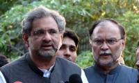 Court issues release orders for Shahid Khaqan Abbasi, Ahsan Iqbal