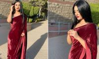 Sara Khan flaunts her grace in hot red saree with fascinating face