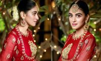Anmol Baloch's heavenly beauty in red dress tugs at fans heartstrings: See Pics