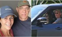 Tom Hanks, Rita Wilson beam as they arrive in LA after recovering from coronavirus