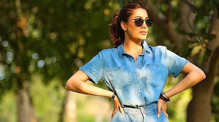 Mehwish Hayat climbs a tree to show her love for nature